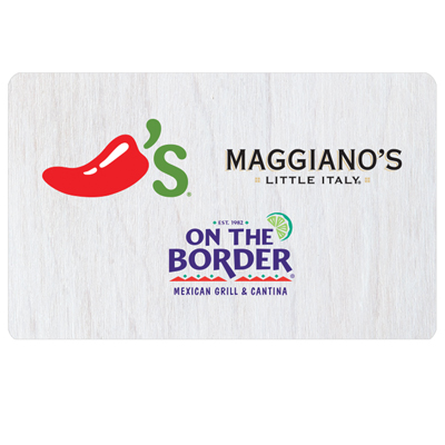 CHILI'S<sup>&reg;</sup> $25 Gift Card - Enjoy mouthwatering favorites in an inviting atmosphere.