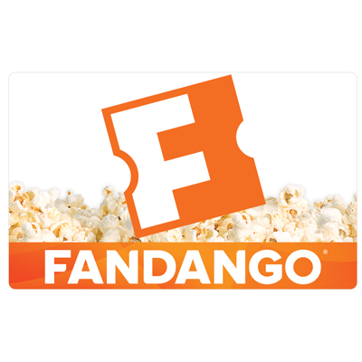 FANDANGO<sup>®</sup> $25 Gift Card - Fandango® makes it easy to find and buy the right movie tickets at the right time.  Show times and tickets can be purchased for more than 23,000 screens at participating theatres nationwide. Fandango tickets can be purchased online or using the mobile app.